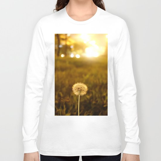 Golden Dandelion Sunset Long Sleeve T-shirt