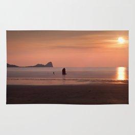 Pastel Sunset at Rhossili Bay Rug