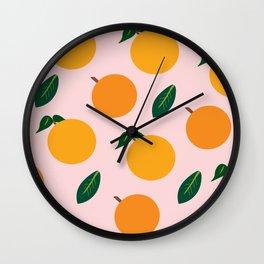 Oranges or Peaches? Wall Clock
