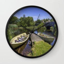 Row Your Worries Away Wall Clock