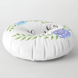 Happy Thanksgiving floral frame Floor Pillow