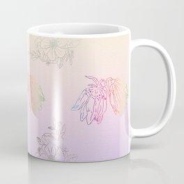 Gentle ombre metallic flowers Coffee Mug
