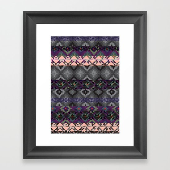 Russian style inspired Aztec Framed Art Print