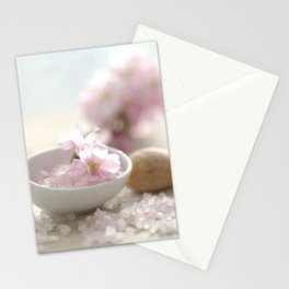 Still life for Bathroom with almond blossoms Stationery Cards