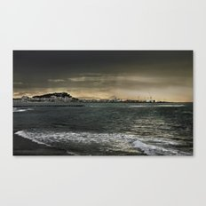 Storm in the sea Canvas Print