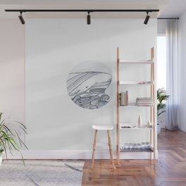 Moby Dick Whale Drawing Wall Mural