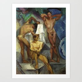 Young Bathers by George Pauli Nude Male Art Art Print