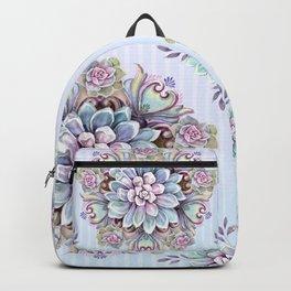 succulent mandala 4 Backpack