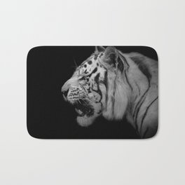 White Tiger Portrair Bath Mat