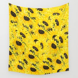 sunflower pattern 2018 1 Wall Tapestry