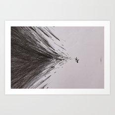 Falling Stickman Art Print