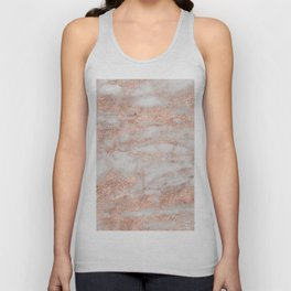 Martino rose gold marble Unisex Tank Top
