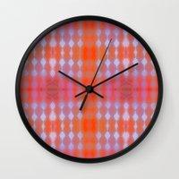 wallpaper Wall Clocks featuring Wallpaper by Kaos and Kookies