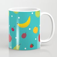 fruits Mugs featuring fruits by Irina Novikova
