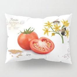Tomato and Pollinators Pillow Sham