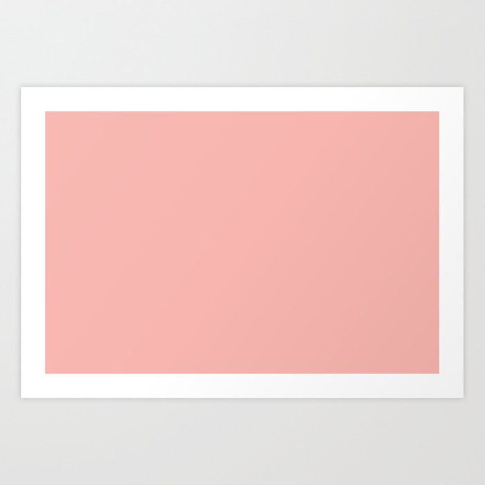 Pratt and Lambert 2019 Coral Pink 2-6 (Pastel Pink) Solid Color Kunstdrucke