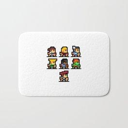 Minimalistic - Street Fighter - Pixel Art Bath Mat
