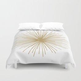 Gold Sputnik Orb Duvet Cover