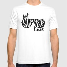 Hot Summer Time Mens Fitted Tee MEDIUM White