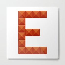 "Letter ""E"" print in beautiful design Fashion Modern Style Metal Print"