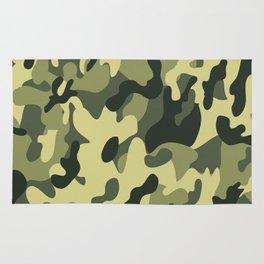 Camouflage  green art Rug