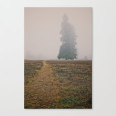 Hiking in the Fog Canvas Print