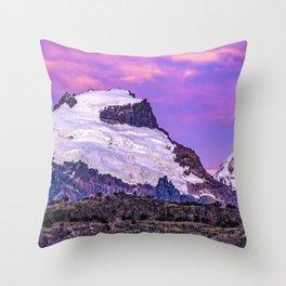 Snowy Andes Mountains, El Chalten Argentina Throw Pillow
