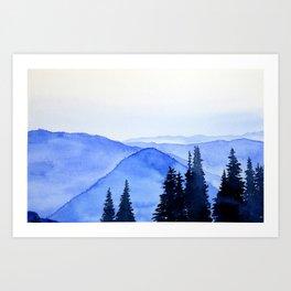 Blue Mountains Landscape Art Print