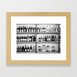 Liquor bottles Framed Art Print