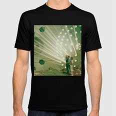 the light pours out of me MEDIUM Black Mens Fitted Tee