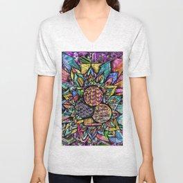 Mandala #1092a Unisex V-Neck