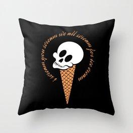 I Scream Cone Throw Pillow