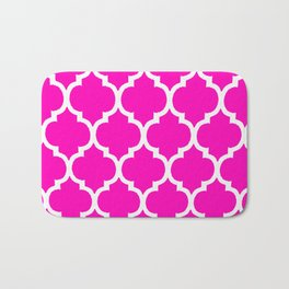 MOROCCAN PINK AND WHITE PATTERN Bath Mat