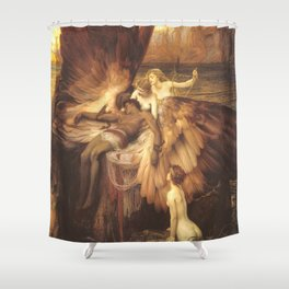 The Lament For Icarus By Herbert James Draper Shower Curtain