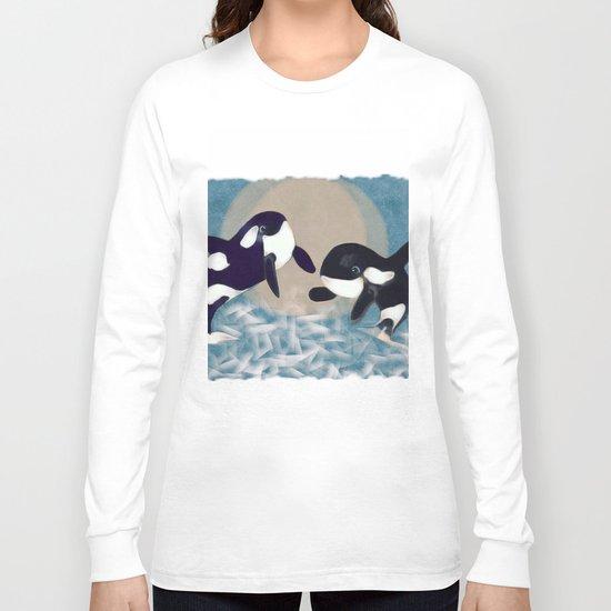 Whale dance Long Sleeve T-shirt