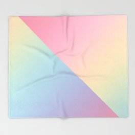 Geometric abstract rainbow gradient Throw Blanket