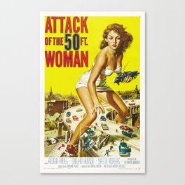 Attack of the 50 ft. Woman - Vintage Horror Movie Poster Canvas Print
