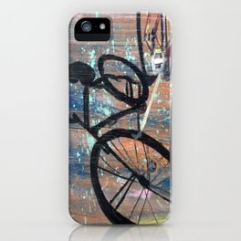Shadow Bicycle iPhone Case