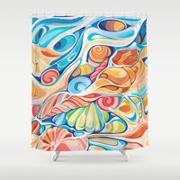 shells Shower Curtains featuring Shells by Alice Macarova