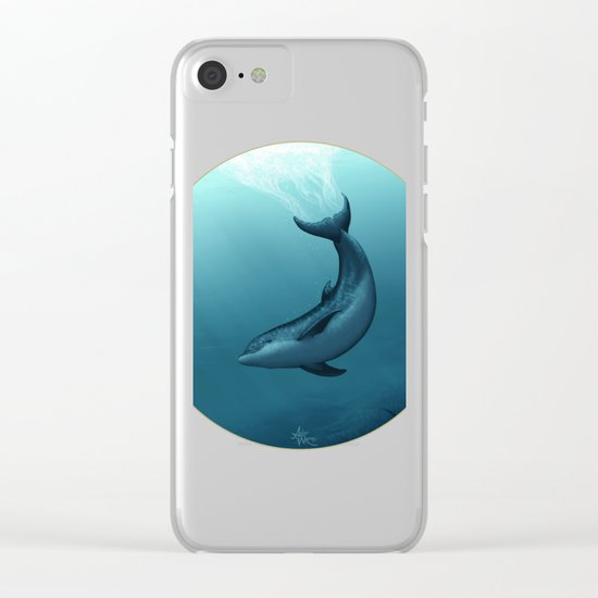 Siren of the Blue Lagoon ~ Dolphin Clear iPhone Case