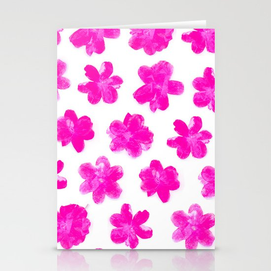 Flowering In Pink Stationery Cards