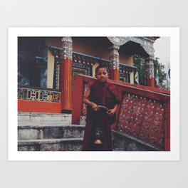 Little monk man  Art Print