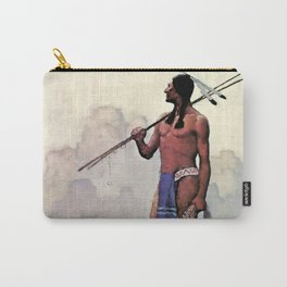 "N C Wyeth Vintage Western Painting ""Spear Fishing"" Carry-All Pouch"