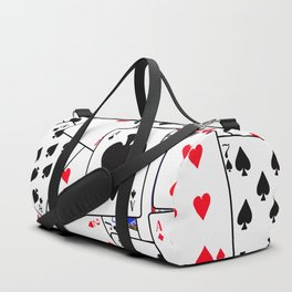 Random Playing Card Background Duffle Bag