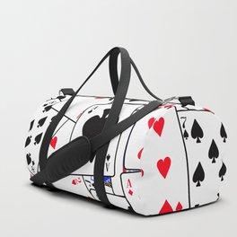 Random Playing Card Background Duffle Bag