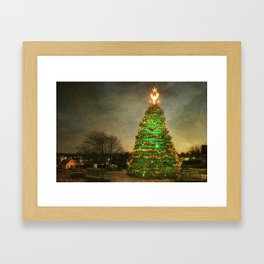 Rockland Lobster Trap Christmas Tree Framed Art Print