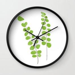 Button Fern Illustration Botanical Print Wall Clock
