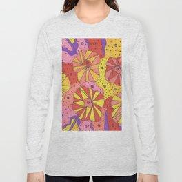 Gallactic Garden Colorful Art Long Sleeve T-shirt