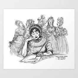 """Jane Austen Among the Women"" Art Print"