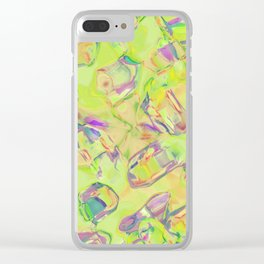 Abstract ABC MBZZ Clear iPhone Case